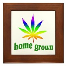Home Grown Framed Tile