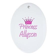 Princess Allyson Oval Ornament