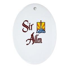 Sir Allen Oval Ornament