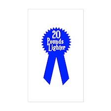 20 Pounds Award Rectangle Decal