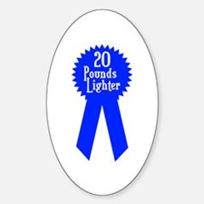 20 Pounds Award Oval Decal