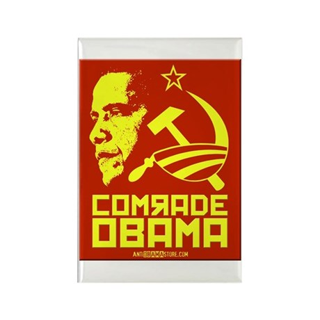 Comrade Obama Rectangle Magnet