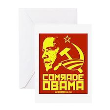 Comrade Obama Greeting Card