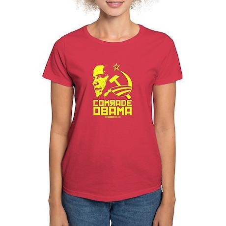 Comrade Obama Women's Red T-Shirt