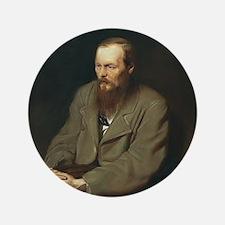 """Fyodor Dostoevsky 3.5"""" Button"""
