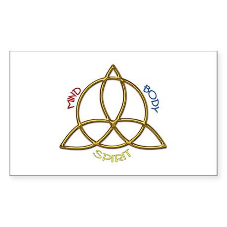 Triquetra Rectangle Sticker