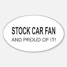 Stock Car Fan Oval Decal