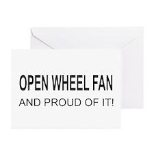 Open Wheel Fan Greeting Cards (Pk of 20)