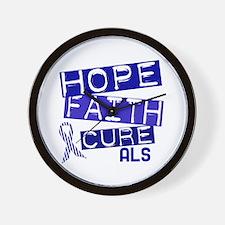 Hope Faith Cure ALS Wall Clock