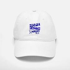 Hope Faith Cure ALS Baseball Baseball Cap