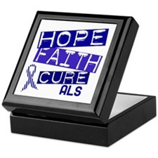 Hope Faith Cure ALS Keepsake Box