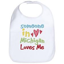 Someone in Michigan Loves Me Bib