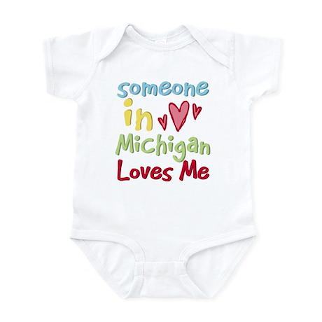Someone in Michigan Loves Me Infant Bodysuit