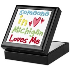 Someone in Michigan Loves Me Keepsake Box
