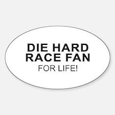 Die Hard Race Fan Oval Decal