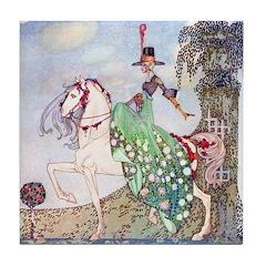 Kay Nielsen Princess Tile Coaster