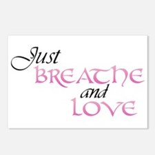 Just Breathe and Love Postcards (Package of 8)