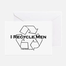 I recycle men Greeting Card