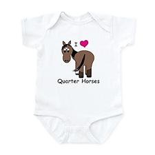 I Love Quarter Horses Infant Bodysuit