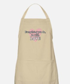 Do Everything With Love BBQ Apron