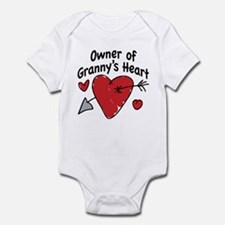OWNER OF GRANNY'S HEART Infant Bodysuit
