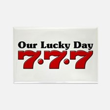 777 Our Lucky Day Rectangle Magnet