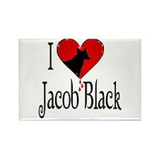 I heart Jacob Black /blk Rectangle Magnet