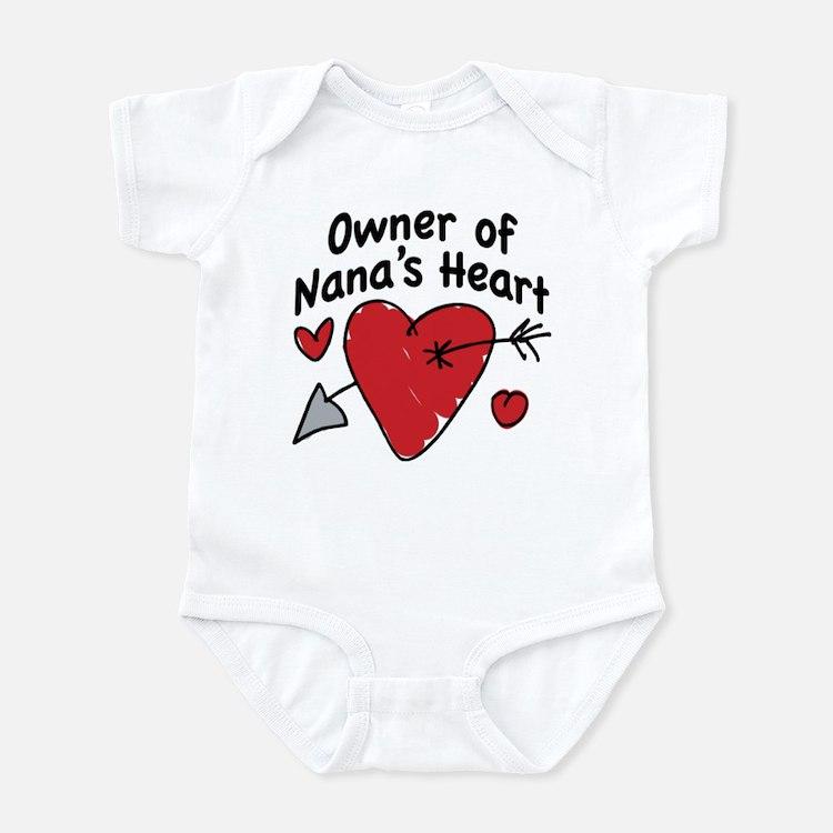 OWNER OF NANA'S HEART Infant Bodysuit
