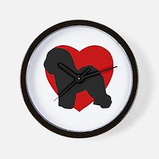 Bichon Frise Valentine's Day Wall Clock