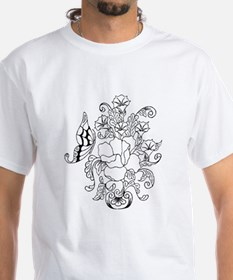 Rose and Butterfly Color Your Shirt