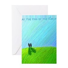 At the End of the Earth Blank Card