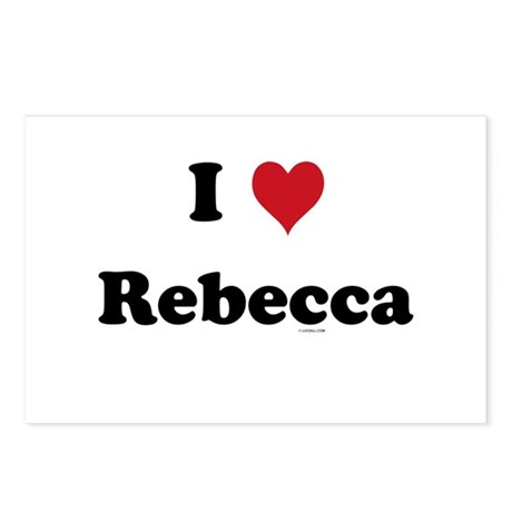 I love Rebecca Postcards (Package of 8)