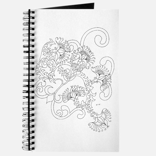 Wild Flowers Color Your Own Journal