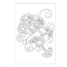 Wild Flowers Color Your Own Postcards (Package of