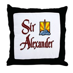 Sir Alexander Throw Pillow