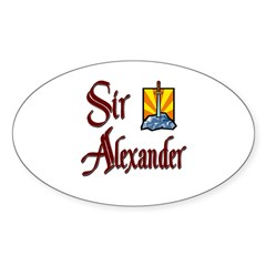 Sir Alexander Oval Decal