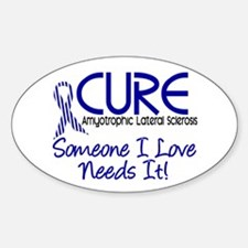 CURE ALS 2 Oval Decal