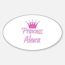Princess Alexa Oval Decal