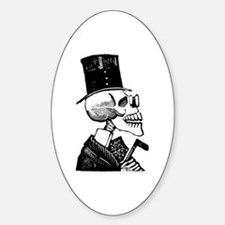 Calavera con Baston Oval Decal