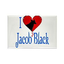 I heart Jacob Black /blue Rectangle Magnet