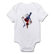 Ace Of Hearts and Dagger Infant Bodysuit