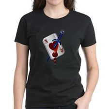 Ace Of Hearts and Dagger Tee