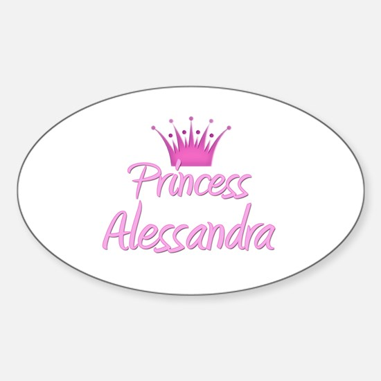 Princess Alessandra Oval Decal