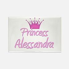 Princess Alessandra Rectangle Magnet