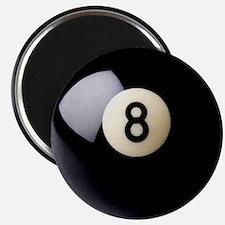Cute Retro pool eight ball Magnet