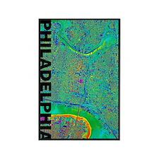 Philadelphia Map Rectangle Magnet