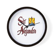 Sir Alejandro Wall Clock
