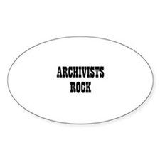 ARCHIVISTS ROCK Oval Decal