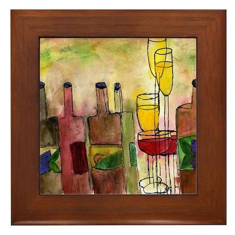 Tuscany Wine Framed Tile