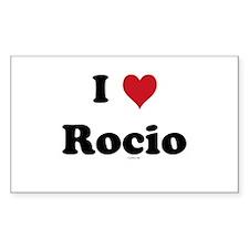 I love Rocio Rectangle Decal